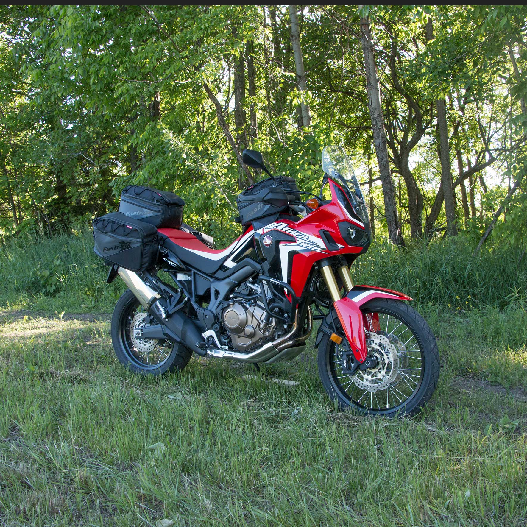 Dowco Fastrax Tank Bag on a Honda Africa Twin Motorcycle