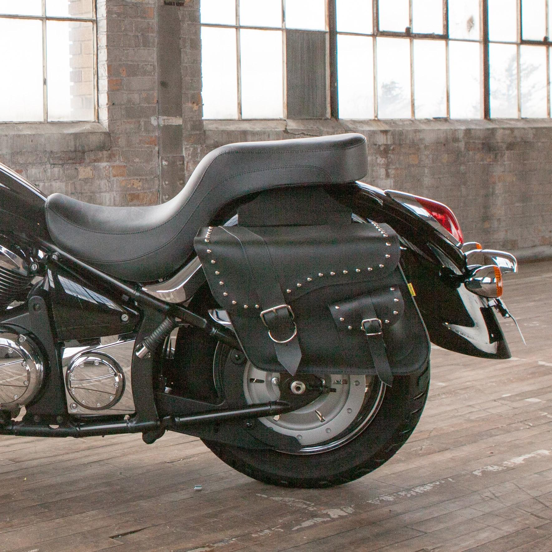 Willie and Max Ranger Large Slant Saddlebags on a Kawasaki Vulcan